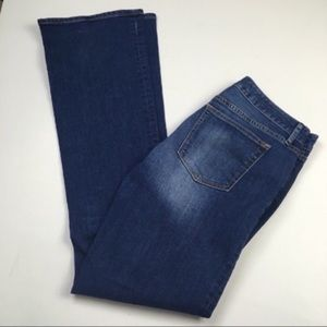 GAP Curvy Boot Flare Dark Long Tall Jeans Sz 30
